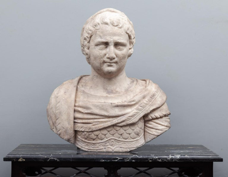 18th Century and Earlier Ancient Roman Bust For Sale