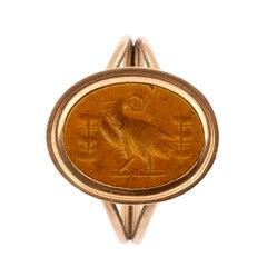 Ancient Roman Gold Jasper Intaglio Ring