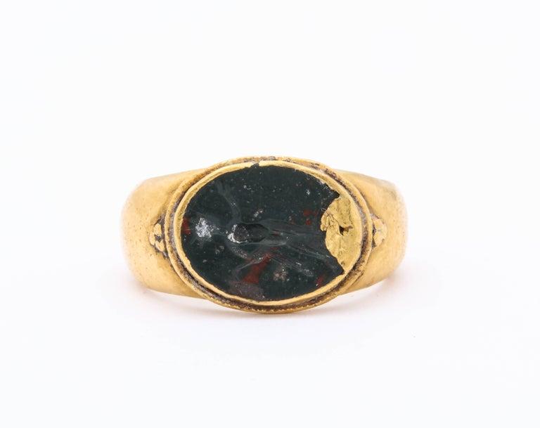 0691120d6b030 Ancient Roman Intaglio Ring of Helios