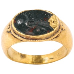 Ancient Roman Intaglio Ring of Helios