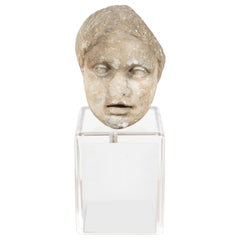Ancient, Roman Marble Bust of a Boy