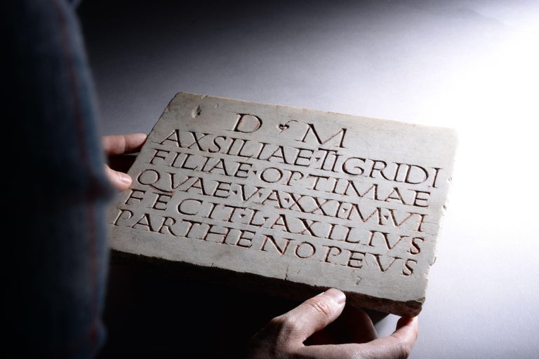 Ancient Roman Marble Inscription, 150 AD In Excellent Condition For Sale In London, GB