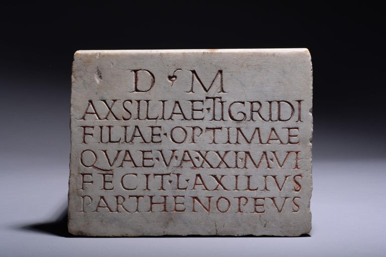 18th Century and Earlier Ancient Roman Marble Inscription, 150 AD For Sale