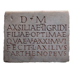 Ancient Roman Marble Inscription, 150 AD