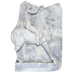 Ancient Roman on Horseback, Resin and Paint Relief