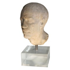 Ancient Roman Portrait Bust of a Man, 1st Century BC