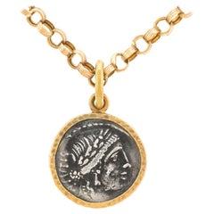 Ancient Roman Silver Coin Pendant