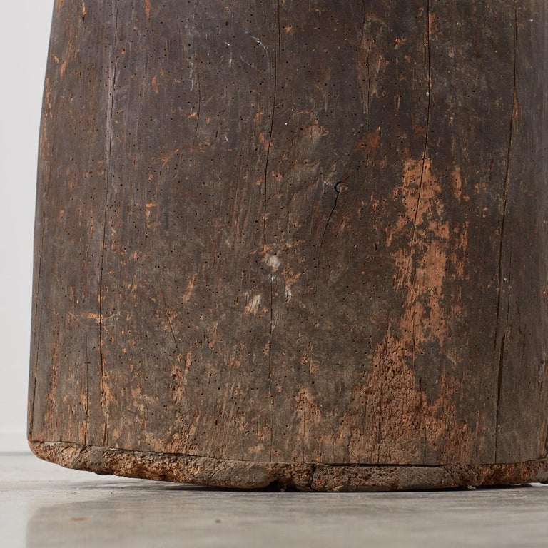18th Century and Earlier Ancient Rustic Wooden Planter, Catalonia, 1700s For Sale