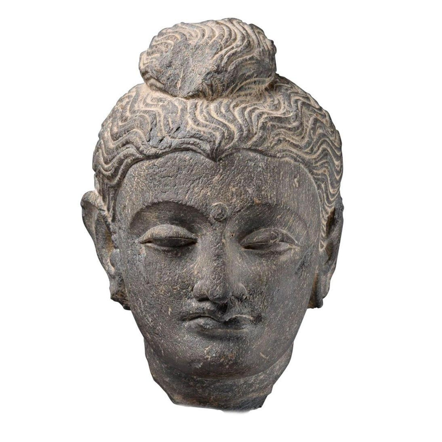 Gandharan Schist Head Of Buddha Ad 250 For Sale At 1stdibs