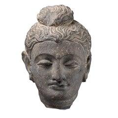 Ancient Stone Gandharan Sculpture of Buddha, 250 AD