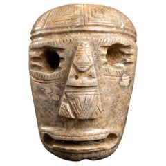 Ancient Stone Mask Olmec Style, Mexico