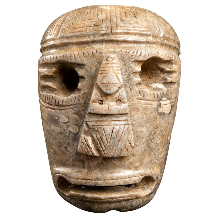 Ancient Stone Mask Olmec Style, Mexico For Sale