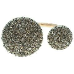 Ancient Technique Open Shank Pavé-Set Diamond Ring