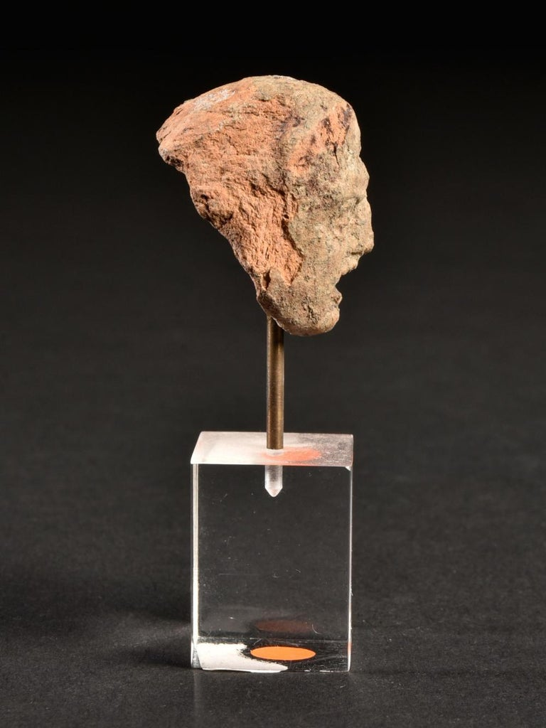 18th Century and Earlier Ancient Terracotta Theatre Greek Head of a Man, 3rd Century BC For Sale