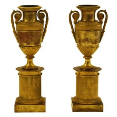 Ancient Vases on Plinth, Italy, 19th Century