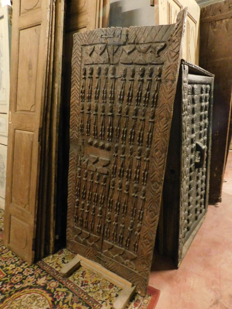 19th Century Ancient Wooden Door of African Tribal Chieftain For Sale