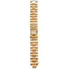Ancre 15 Rubis 18 Carat Gold Diamond Ladies Watch