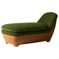 And Objects Candover Daybed, Green Boucle