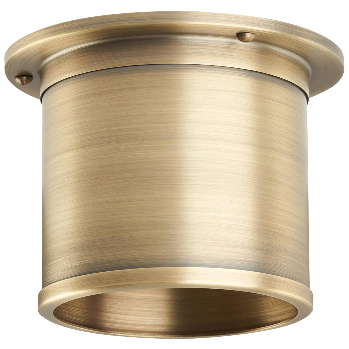 And Objects Compton Spot Diffuser, Aged Brass Recessed Spot Light Shade