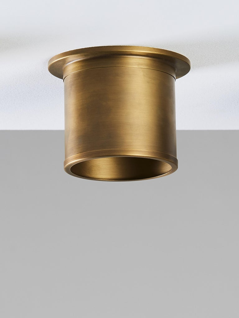 Hand-Crafted And Objects Compton Spot Diffuser, Brass Bronze Recess Spot Light Shade For Sale