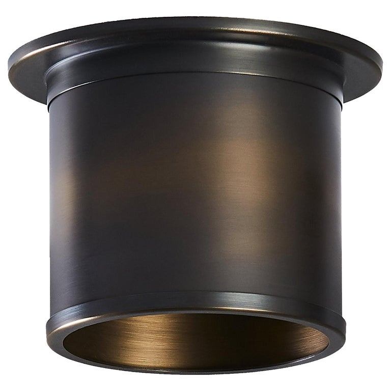 And Objects Compton Spot Diffuser, Brass Bronze Recess Spot Light Shade For Sale