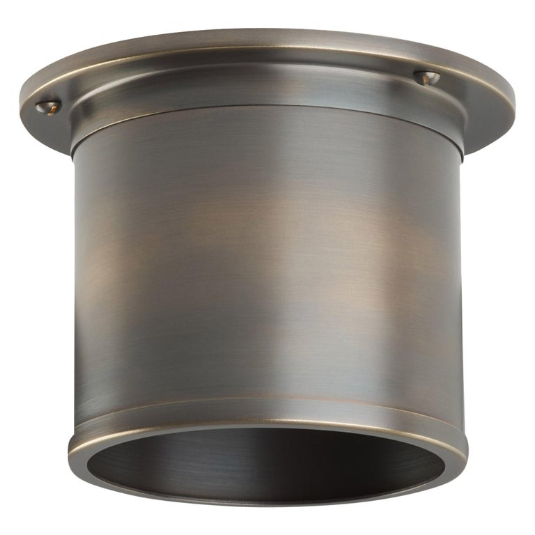 And Objects Compton Spot Diffuser, Brass Bronze Recessed Spot Light Shade For Sale