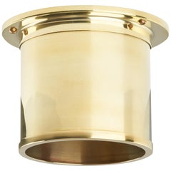 And Objects Compton Spot Diffuser, Polished Brass Recessed Spot Light Shade