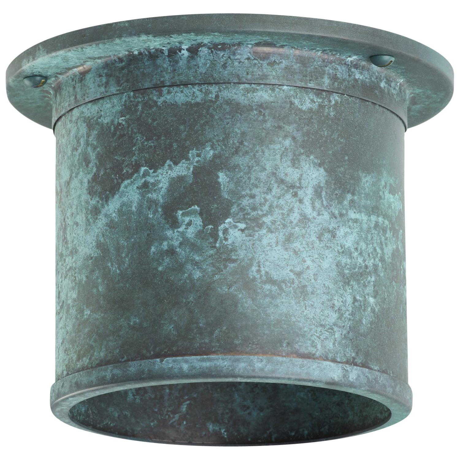 And Objects Compton Spot Diffuser, Verdigris Recessed Spot Light Shade