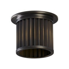 And Objects Littleton End Cap Spot Diffuser, Brass Bronze Recess Light Shade