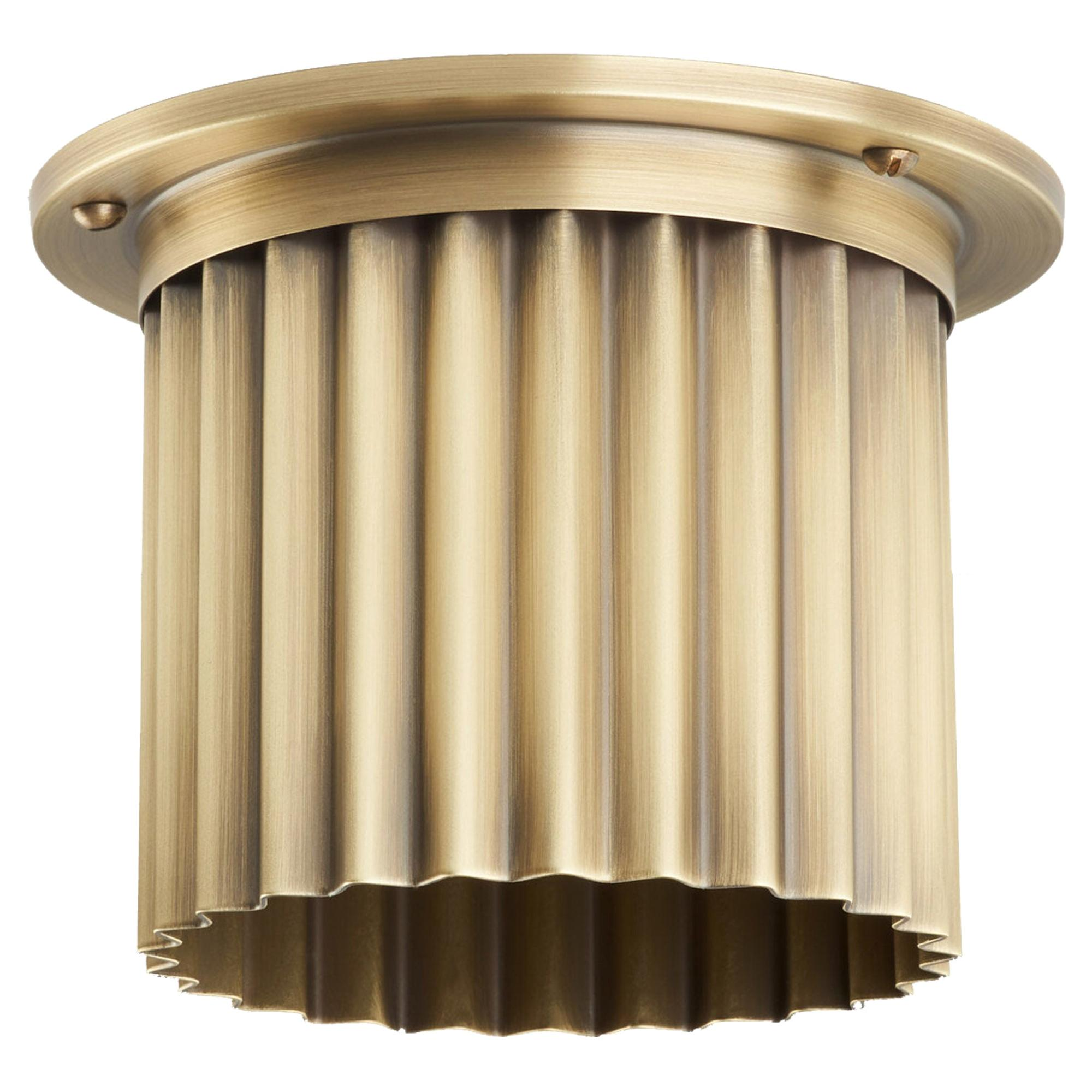 And Objects Littleton Spot Diffuser, Aged Brass Recessed Spot Light Shade