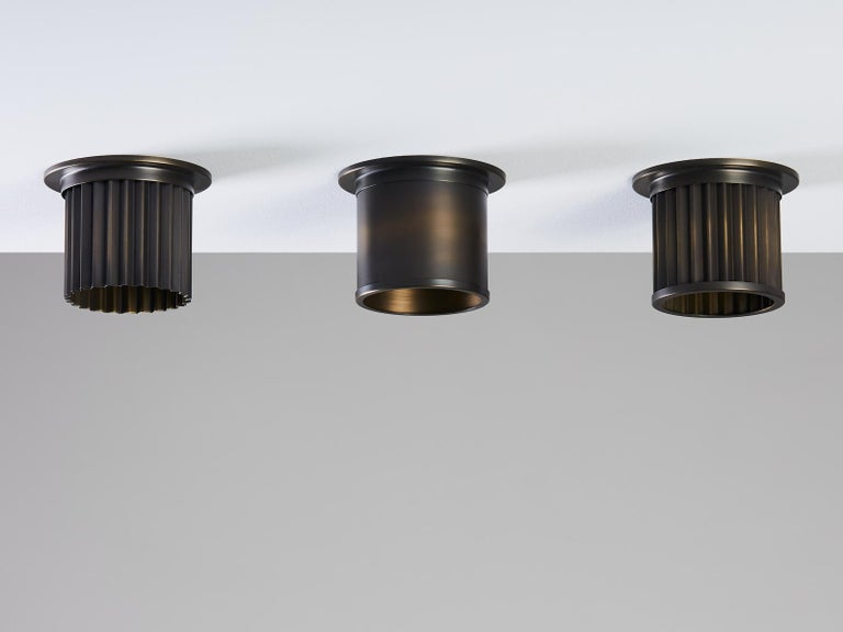 British And Objects Littleton Spot Diffuser, Brass Bronze Recess Spot Light Shade For Sale