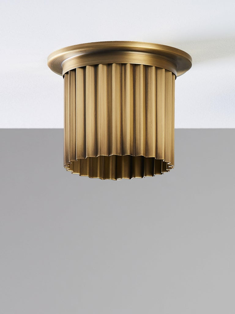Hand-Crafted And Objects Littleton Spot Diffuser, Polished Brass Recess Spot Light Shade For Sale