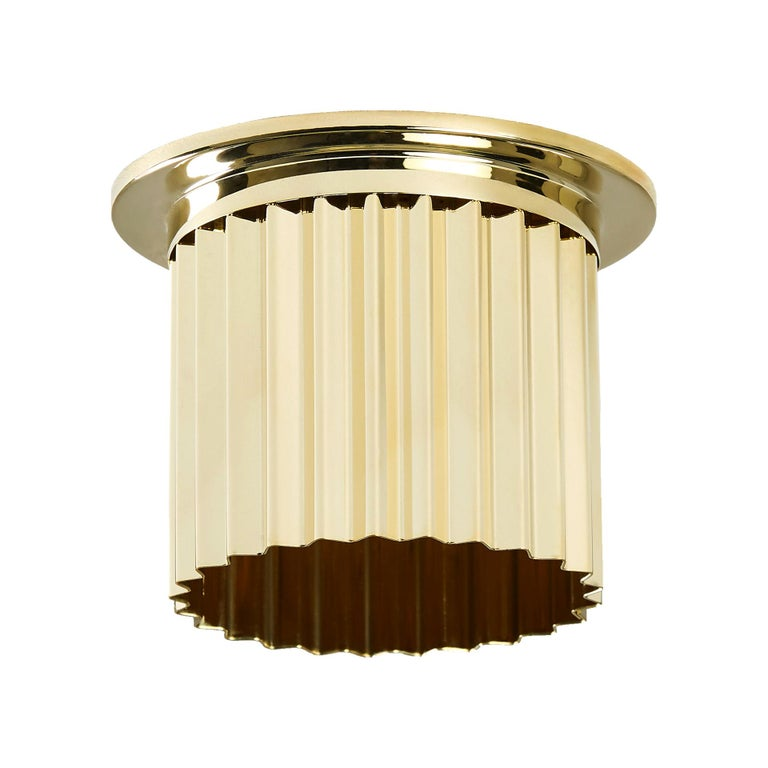 And Objects Littleton Spot Diffuser, Polished Brass Recess Spot Light Shade For Sale