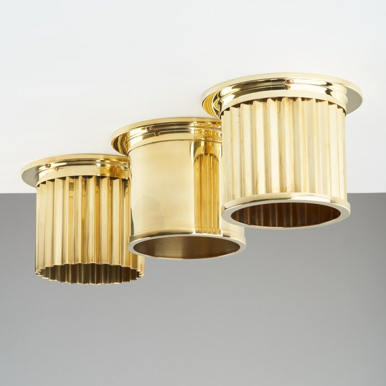 British And Objects Littleton Spot Diffuser, Polished Brass Recessed Spot Light Shade For Sale