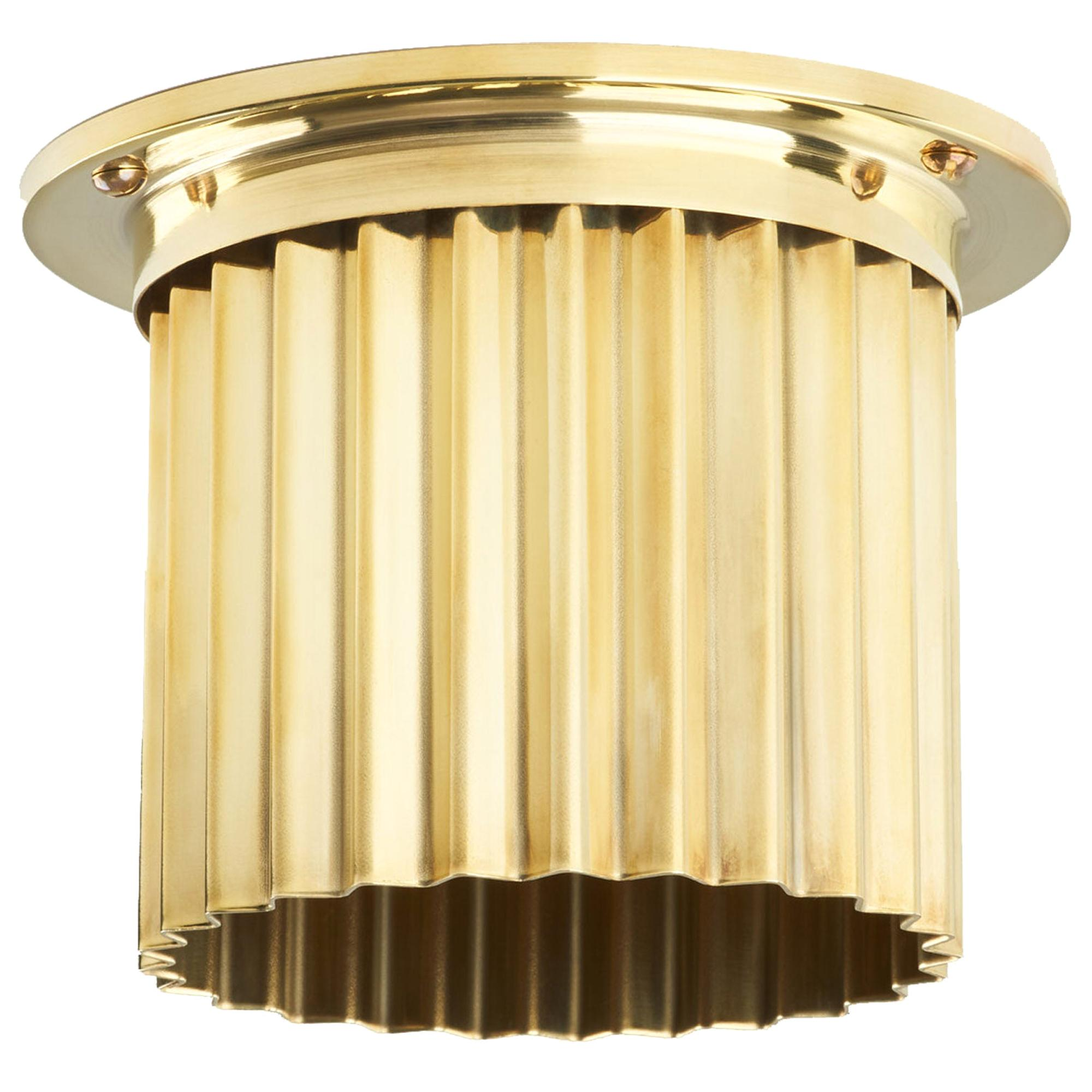 And Objects Littleton Spot Diffuser, Polished Brass Recessed Spot Light Shade