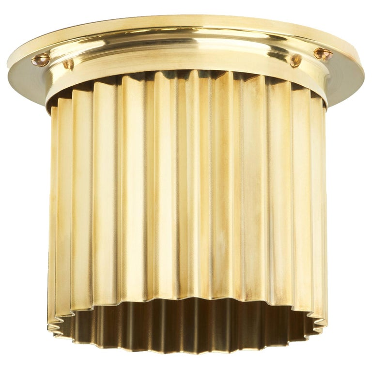 And Objects Littleton Spot Diffuser, Polished Brass Recessed Spot Light Shade For Sale