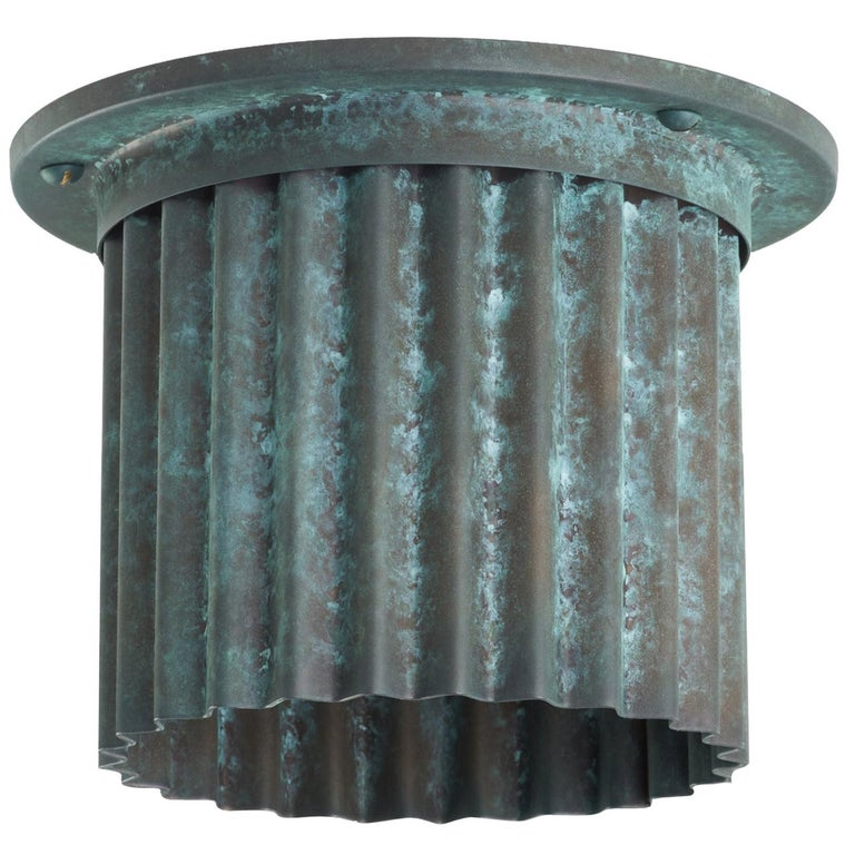 And Objects Littleton Spot Diffuser, Verdigris Recessed Spot Light Shade For Sale