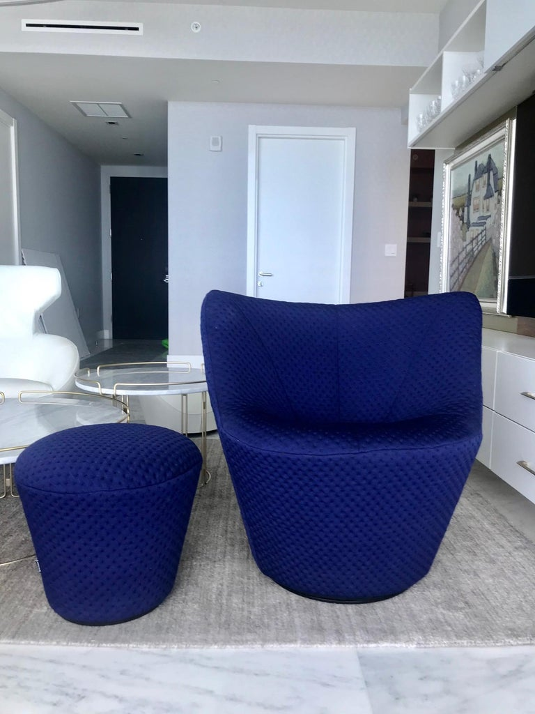 Anda Swivel Armchair and Ottoman by Pierre Paulin for Ligne Roset, circa 2018 For Sale 6