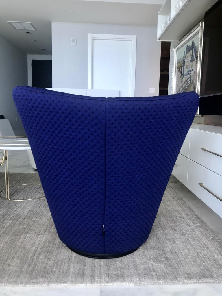 Upholstery Anda Swivel Armchair and Ottoman by Pierre Paulin for Ligne Roset, circa 2018 For Sale