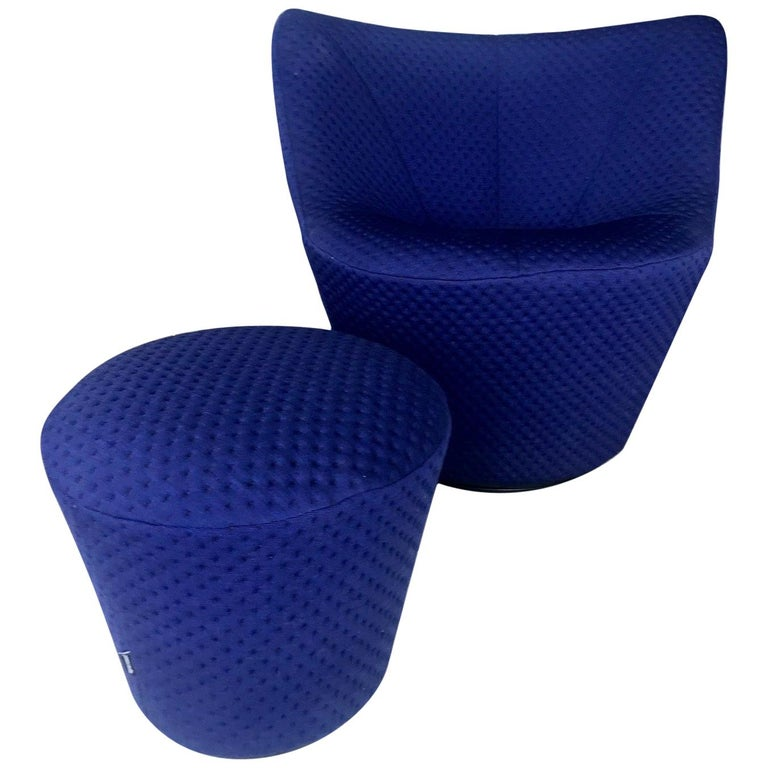 Anda Swivel Armchair and Ottoman by Pierre Paulin for Ligne Roset, circa 2018 For Sale
