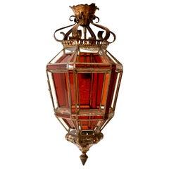 Andalusian Amber Glass Lantern