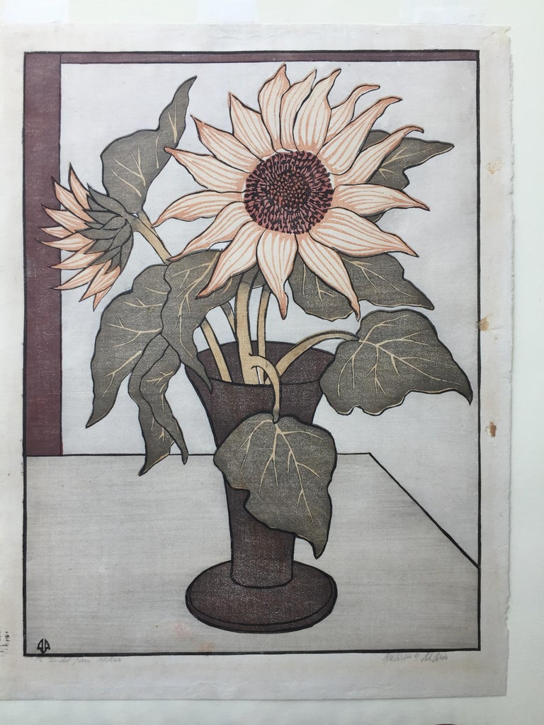 THE SUNFLOWER - American Modern Print by ANDERS ALDRIN