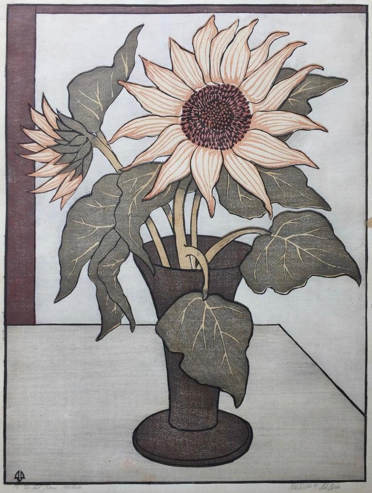 ANDERS ALDRIN Landscape Print - THE SUNFLOWER