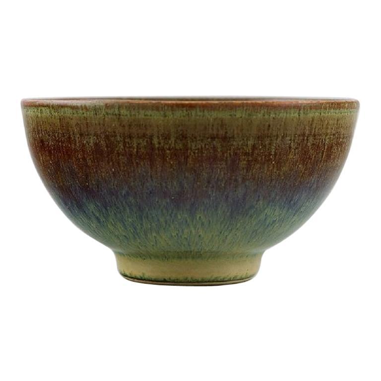 Anders Dolk, Hedemora, Sweden, Unique Bowl in Glazed Ceramics