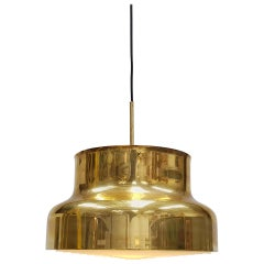 "Anders Pehrson ""Bumling"" Brass Ceiling Pendant for Atelije Lyktan, Sweden, 1970s"