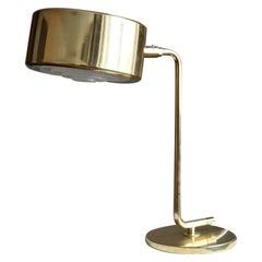 "Anders Pehrson, Rare ""Stekpannan"" Table Lamp, Brass, Ateljé Lyktan, Sweden 1970s"