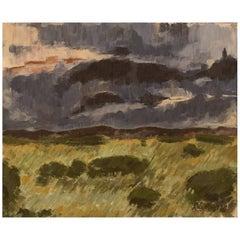 Anders Wallin, Swedish Artist, Swedish Landscape, 1972