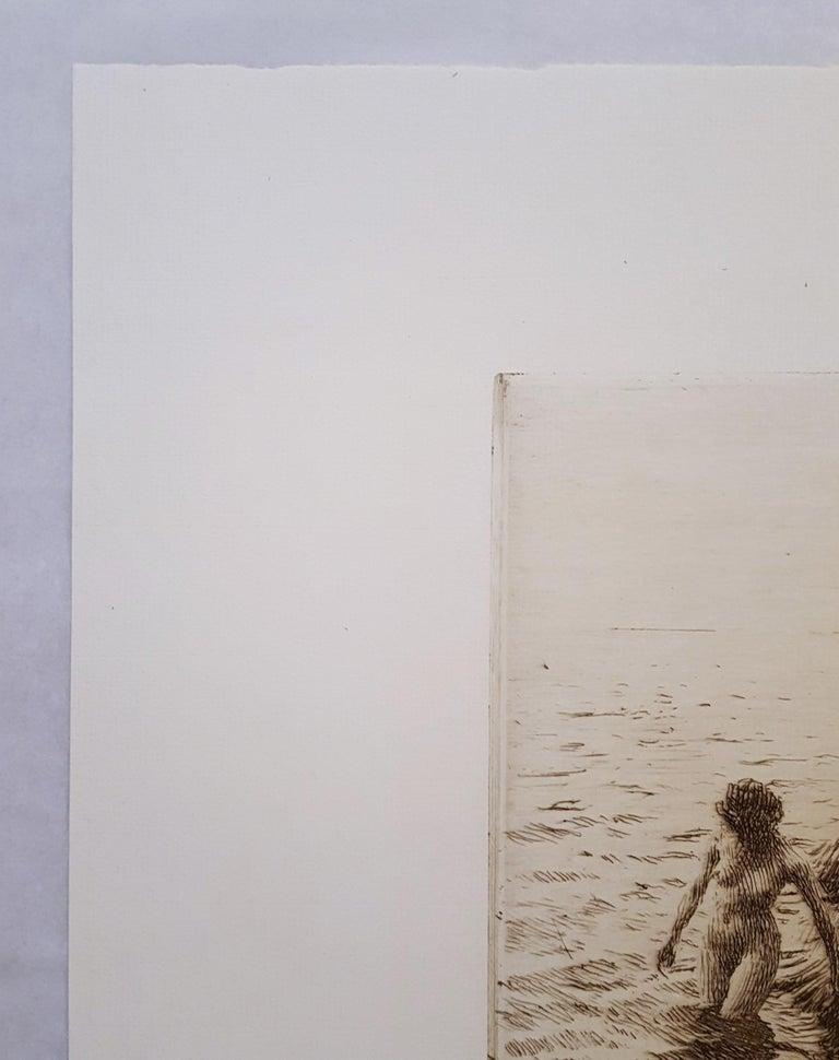 Seaward Skerries - Gray Nude Print by Anders Zorn