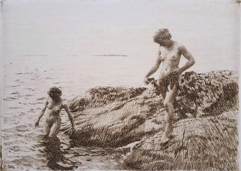 Anders Zorn Nude Print - Seaward Skerries