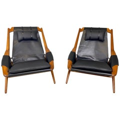 Andersag Lounge Chair in black Leather